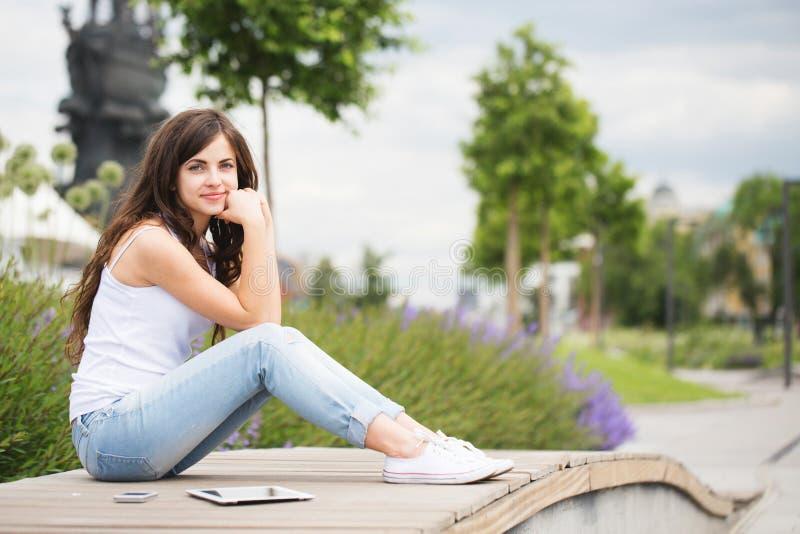 Het meisje van de student stock afbeeldingen