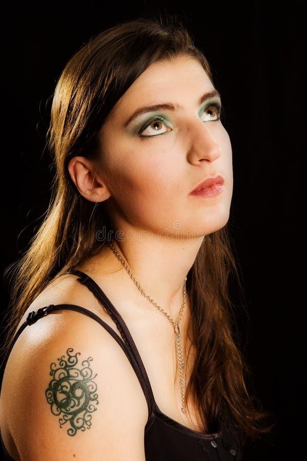 Het meisje van de tatoegering stock afbeeldingen