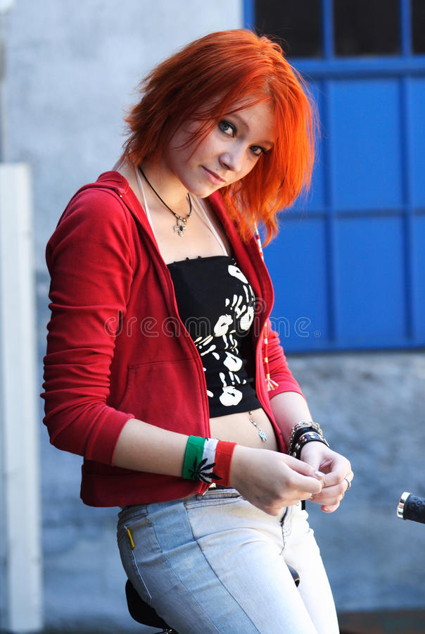 Het meisje van de tiener stock afbeeldingen