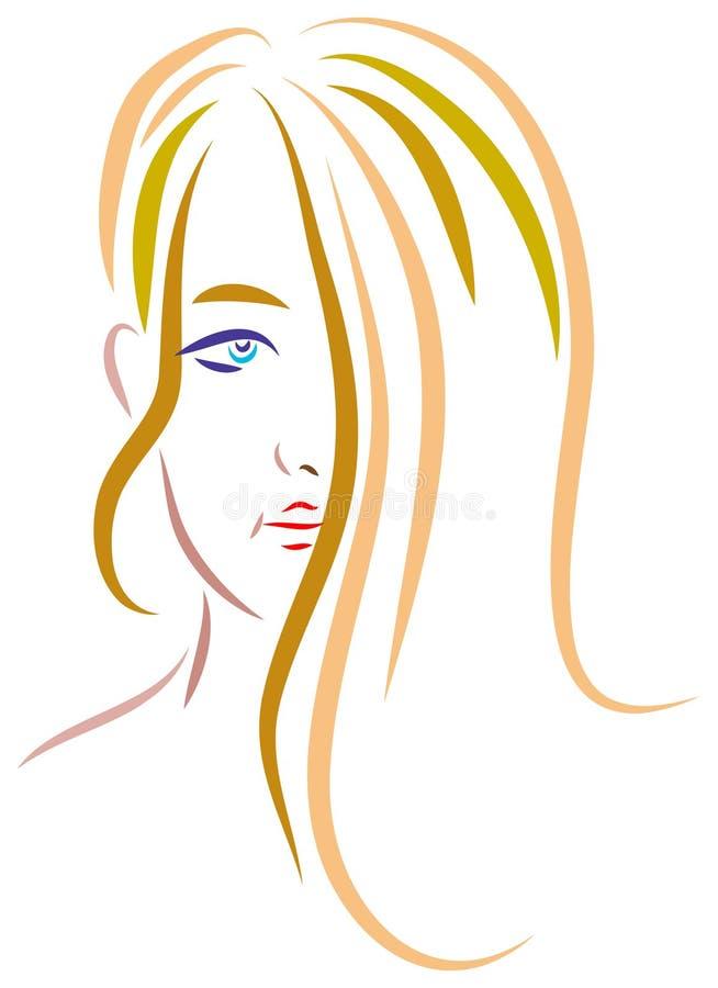 Het meisje van de tiener stock illustratie