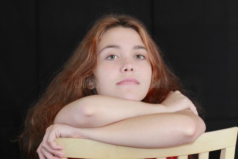 Het meisje van de tiener stock afbeelding