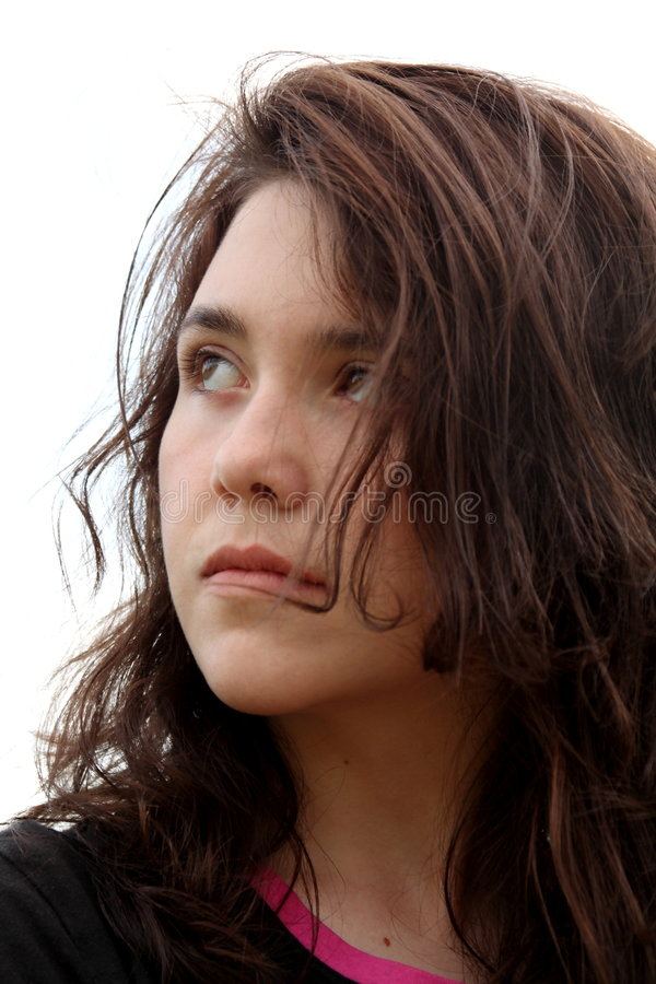 Het meisje van de tiener met houding stock afbeelding