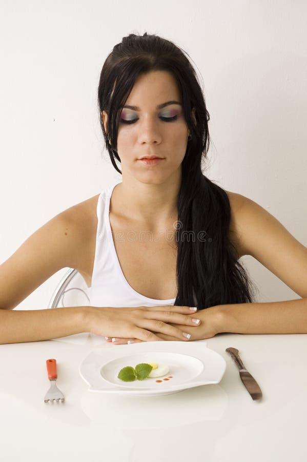 Het meisje van de tiener op dieet royalty-vrije stock foto's