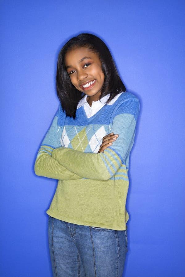 Het meisje van de tiener porait. royalty-vrije stock foto