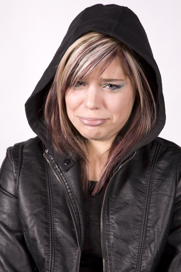 Het meisje van de uitdrukking het schreeuwen stock afbeeldingen
