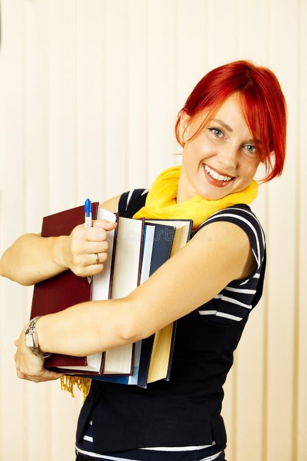 Het meisje van de universiteit stock afbeelding