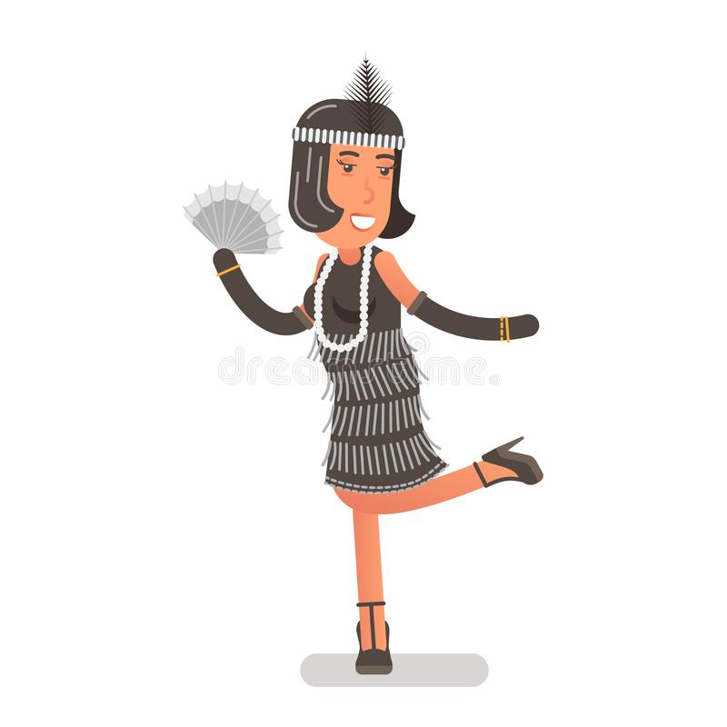 Het meisje van de vin stock illustratie