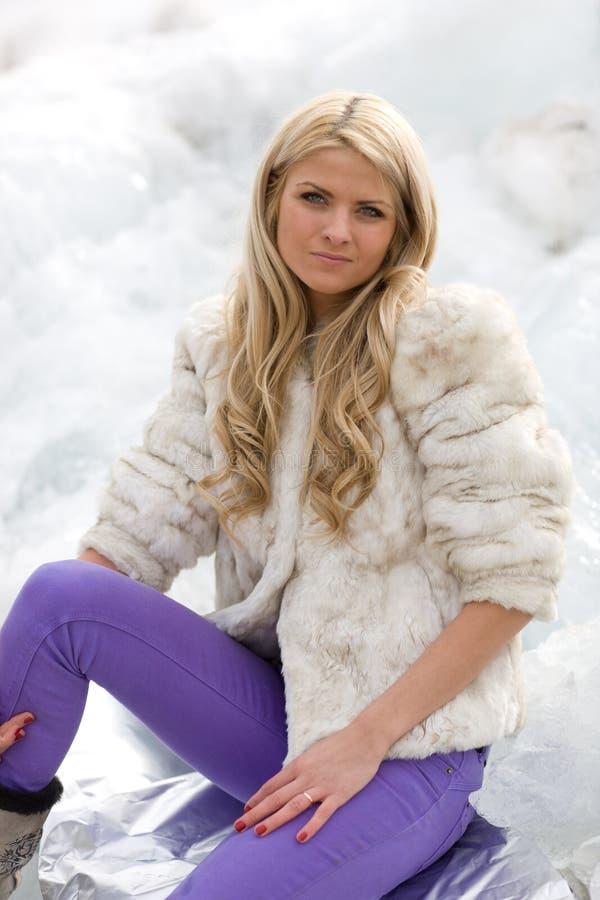 Download Het meisje van de winter stock foto. Afbeelding bestaande uit manier - 10781598
