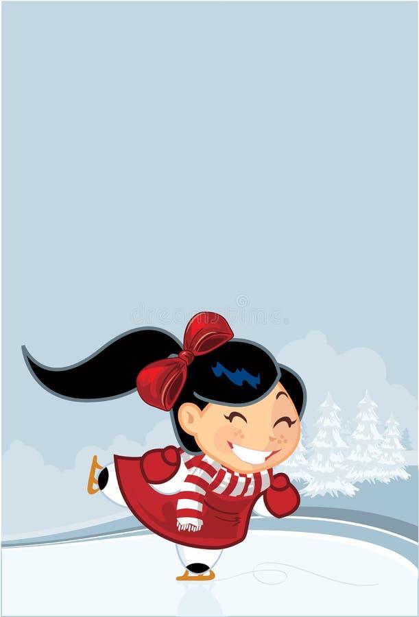 Het meisje van de winter stock illustratie