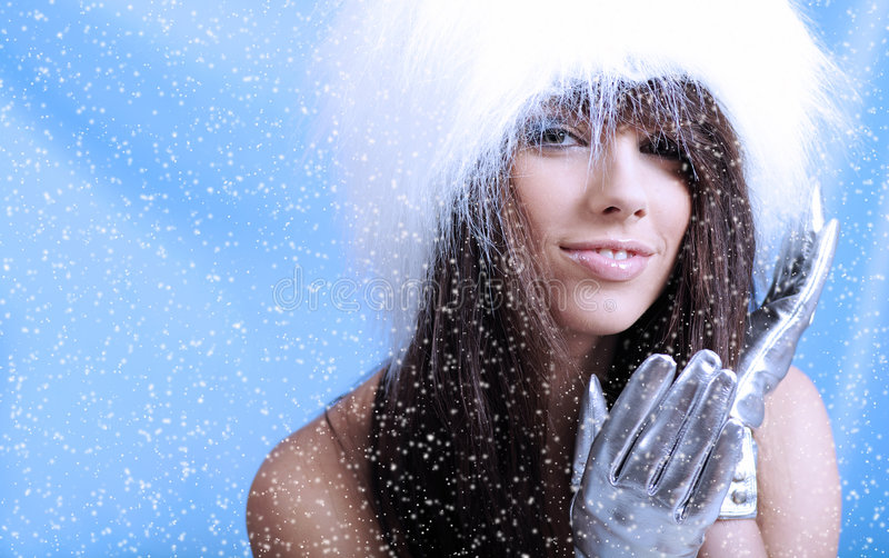 Het meisje van de winter royalty-vrije stock foto's