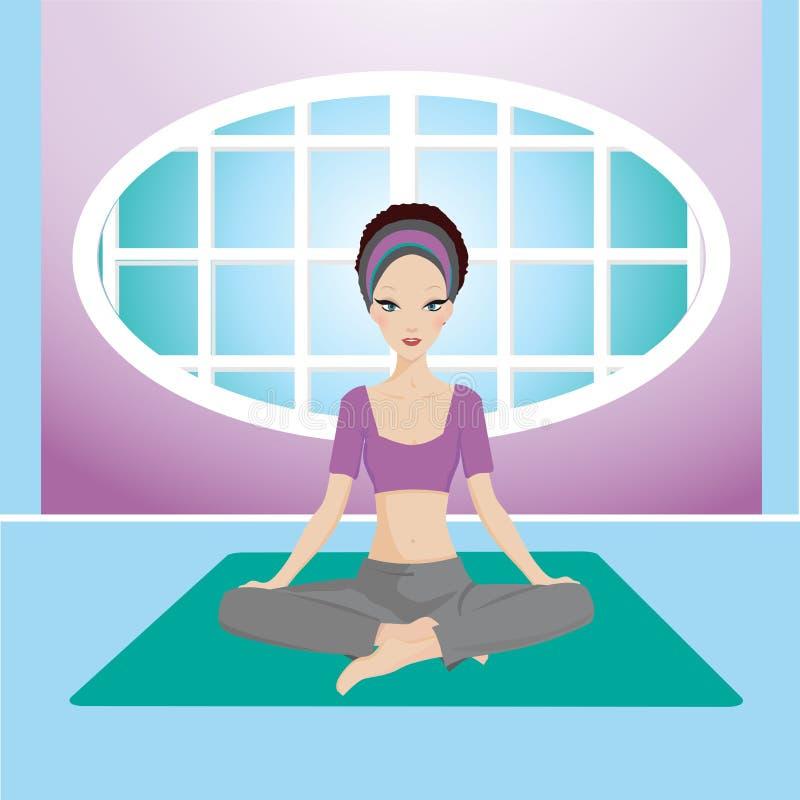 Het meisje van de yoga stock illustratie