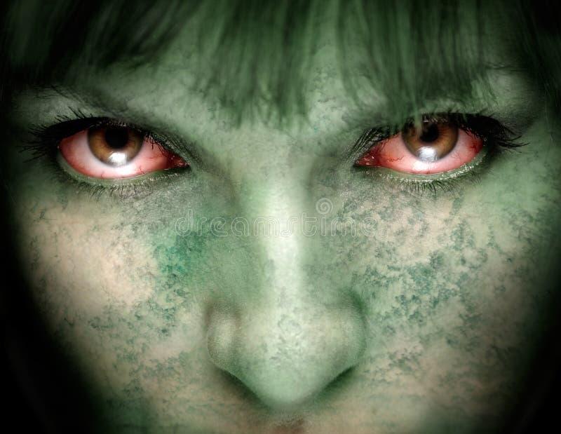 Het meisje van de zombie stock fotografie