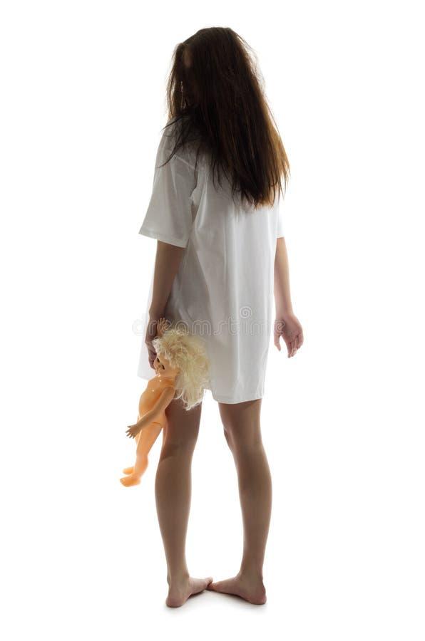Het meisje van de zombie met pop stock afbeeldingen