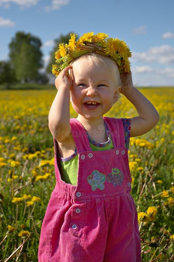 Het meisje van de zomer stock afbeelding