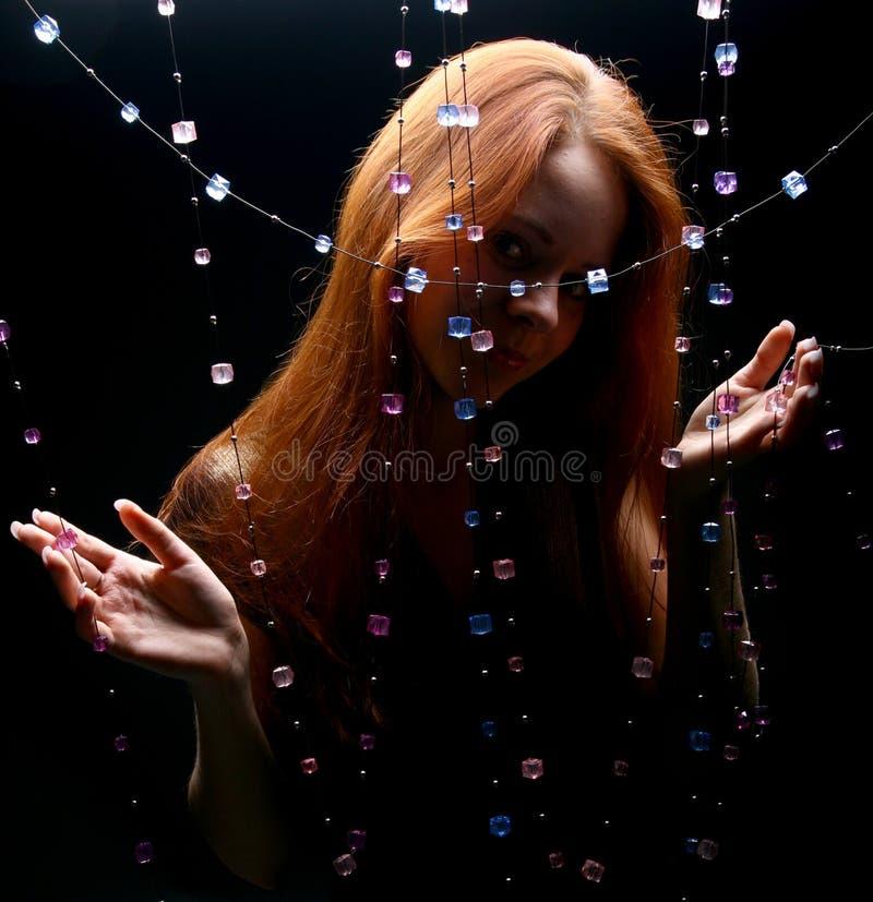 Het meisje van diamanten stock foto