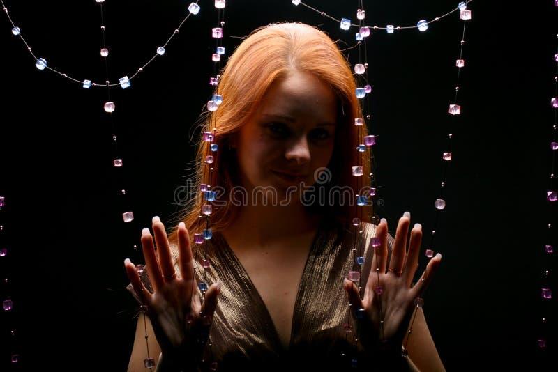 Het meisje van diamanten royalty-vrije stock afbeeldingen