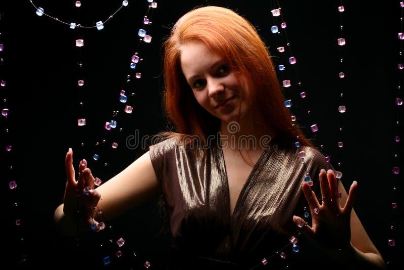 Het meisje van diamanten royalty-vrije stock foto