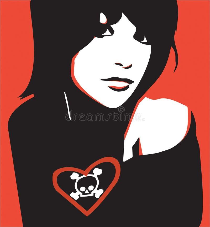 Het meisje van Emo vector illustratie