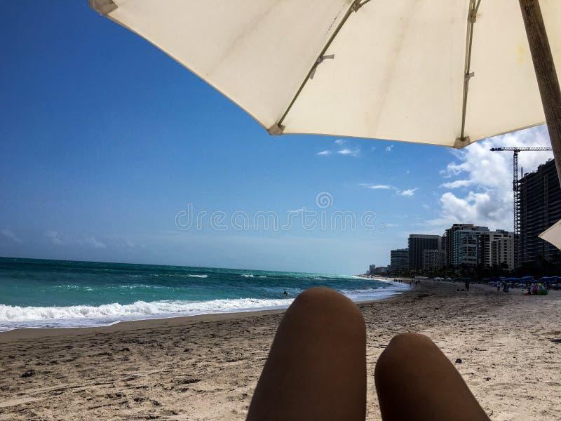 Het meisje van Florida op strand stock foto