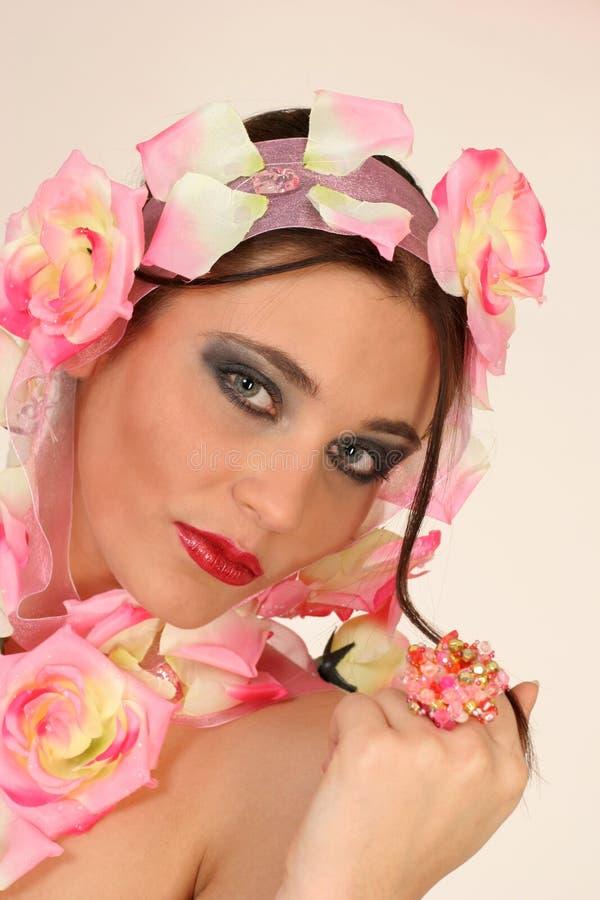 Het Meisje van Flowerpower stock foto