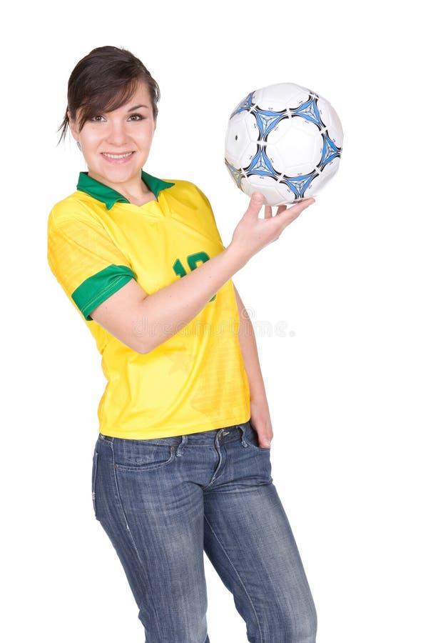 Het meisje van Footbal royalty-vrije stock foto's