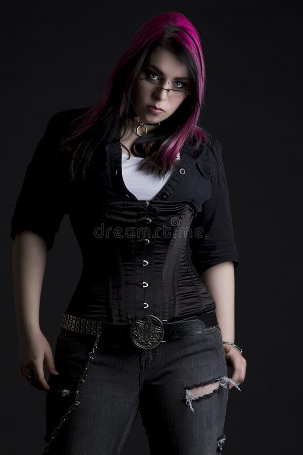 Het meisje van Goth royalty-vrije stock afbeeldingen