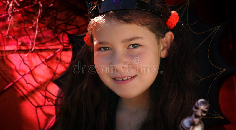 Het meisje van Halloween royalty-vrije stock afbeelding