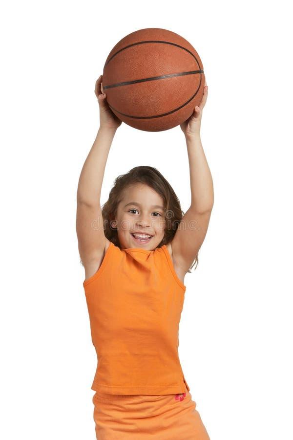Het meisje van het basketbal royalty-vrije stock afbeeldingen