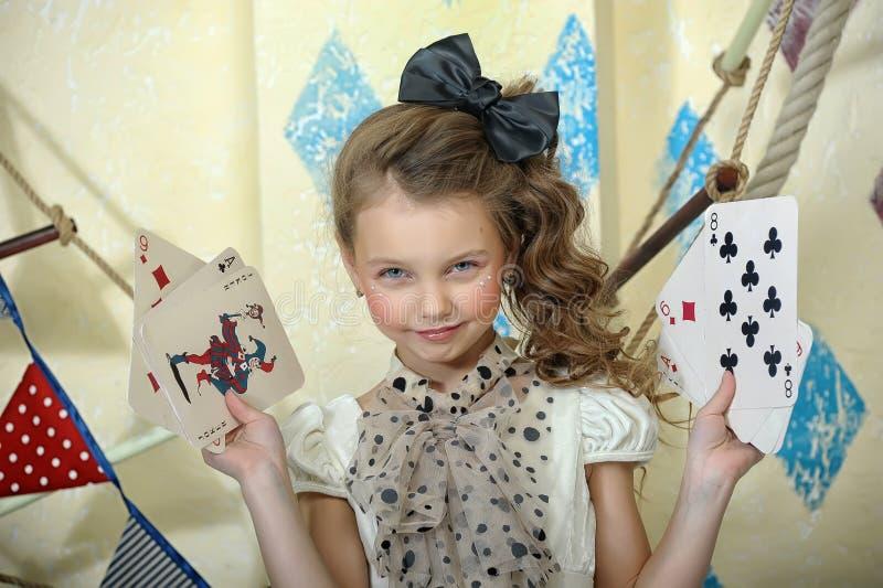Het meisje van het circus stock afbeeldingen