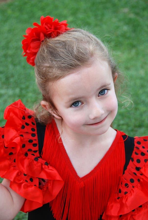 Het Meisje van het flamenco stock fotografie