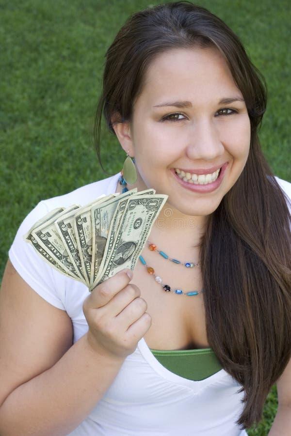 Het Meisje van het geld royalty-vrije stock foto