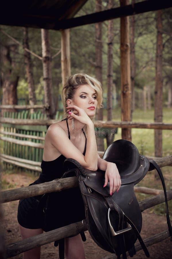 Het meisje van het glamourblonde stock afbeeldingen