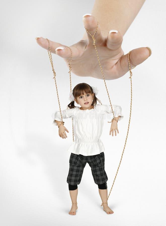 Het meisje van het kind - marionet stock foto's