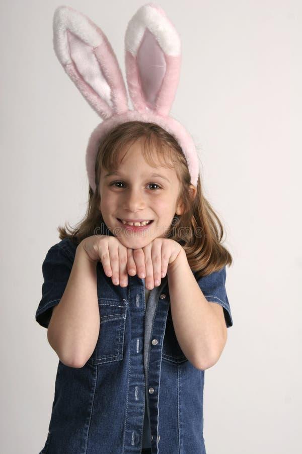 Het meisje van het konijntje stock afbeelding