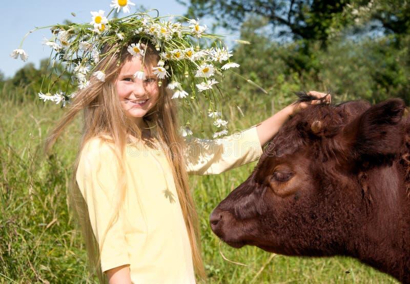 Het meisje van het land royalty-vrije stock fotografie