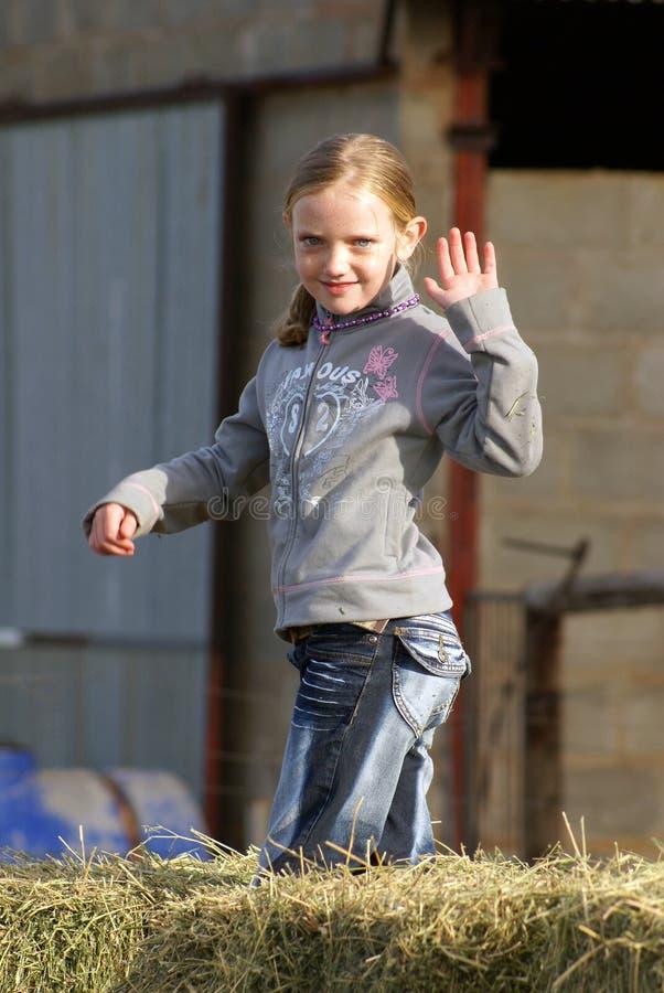Het Meisje van het landbouwbedrijf royalty-vrije stock foto