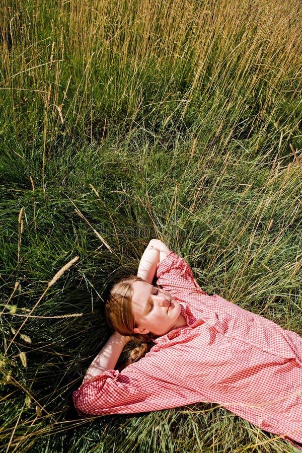 Het Meisje van het landbouwbedrijf stock afbeelding