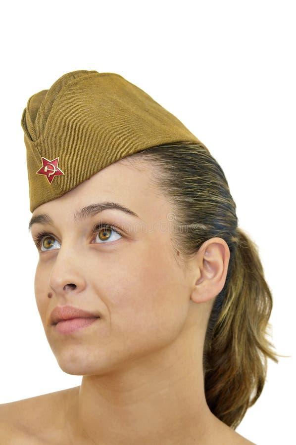 Het meisje van het leger stock afbeelding