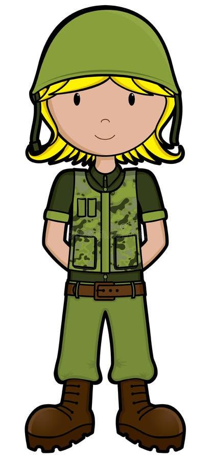 Het Meisje Van Het Leger - Vector Royalty-vrije Stock Afbeeldingen