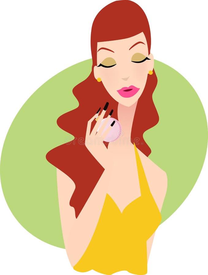 Het meisje van het parfum royalty-vrije illustratie