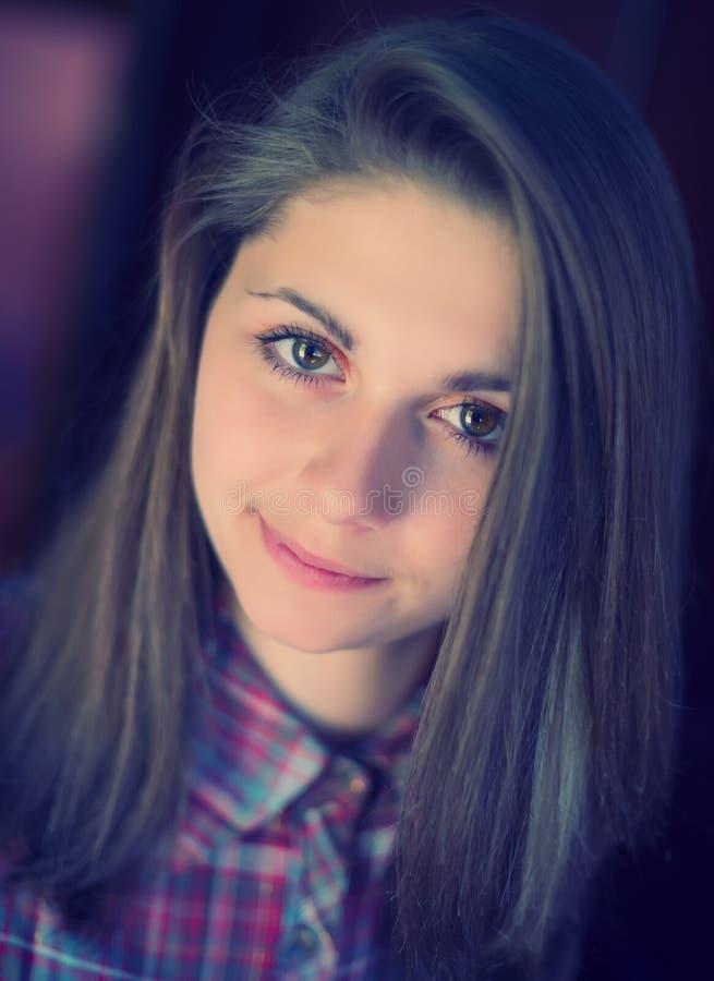 Het meisje van het portret stock fotografie