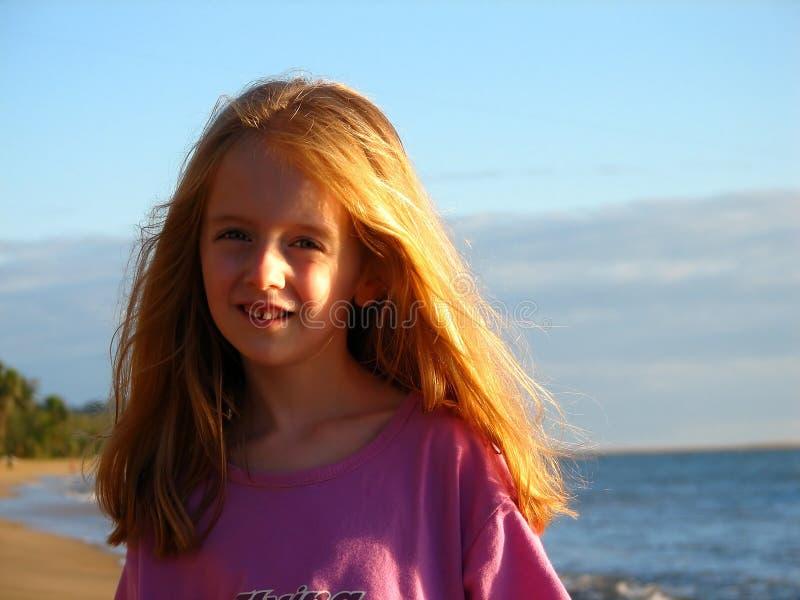 Het meisje van het strand stock afbeeldingen