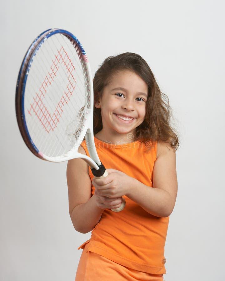 Het meisje van het tennis stock afbeeldingen