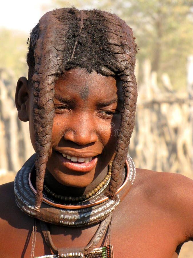 Het meisje van Himba royalty-vrije stock foto's