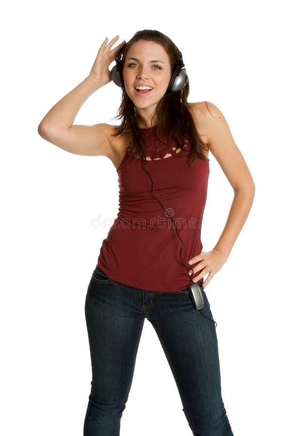 Het Meisje van hoofdtelefoons royalty-vrije stock foto's