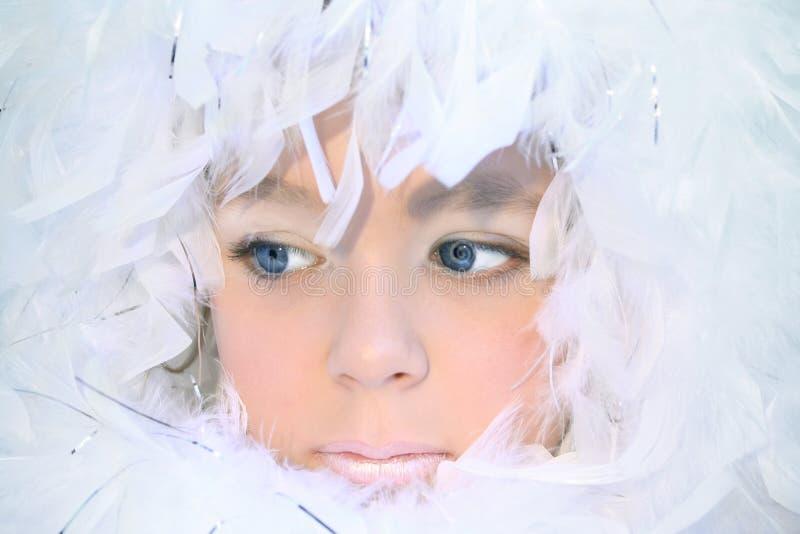 Het meisje van Kerstmis royalty-vrije stock foto