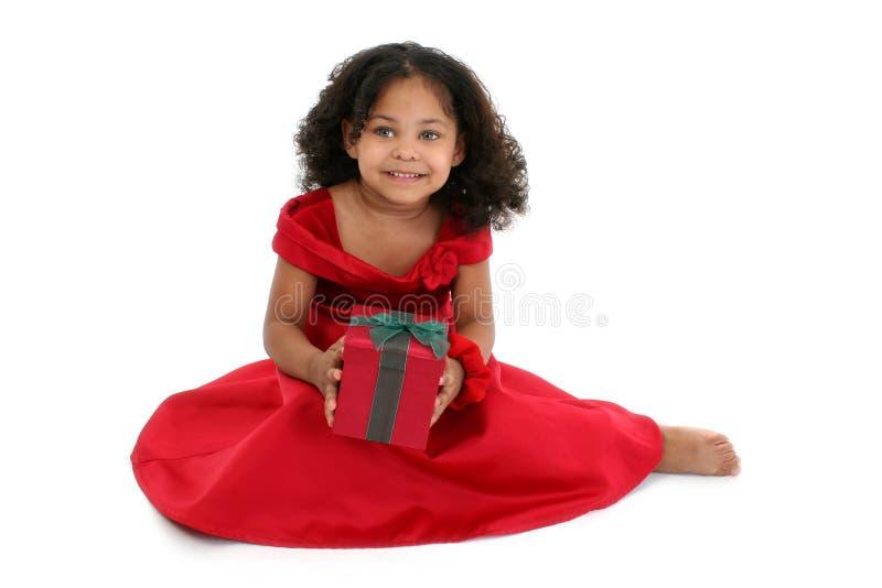 Het Meisje van Kerstmis royalty-vrije stock foto's