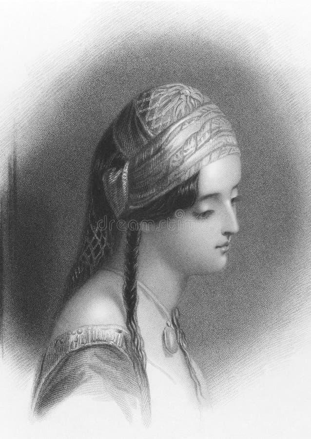 Het Meisje van Lord Byron's van Athene stock afbeelding