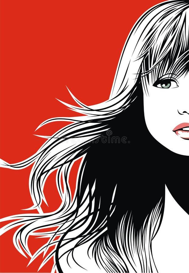 Het meisje van Nice stock illustratie
