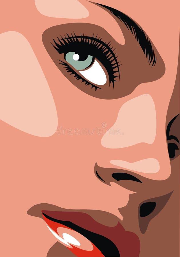 Het meisje van Nice vector illustratie